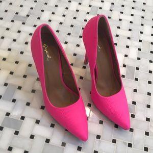 Neon pink Qupid heels